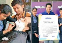 Sachin Tendulkar gets a shave from these two Barbershop girls