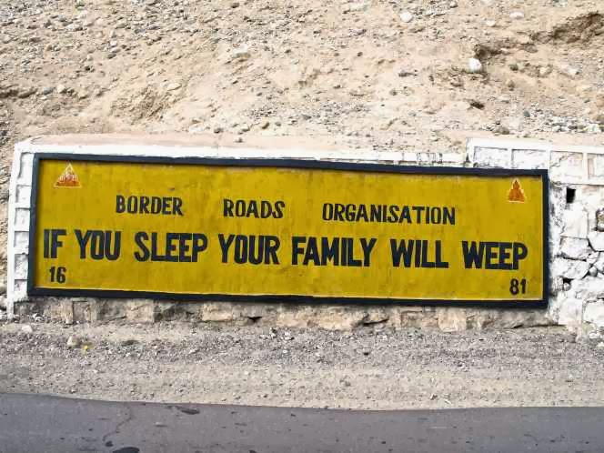 15 Funny Road Signs in india, Border roads organisation