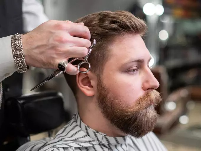 Using scissors, cut the top hair, Men's Ultimate Guide To Get Their Haircut At Home, How to Cut Your Own Hair at Home