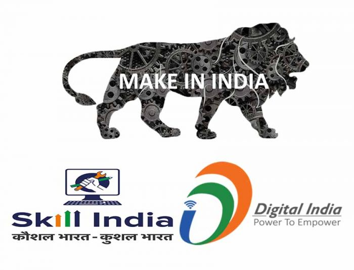 make in india digital india skill india