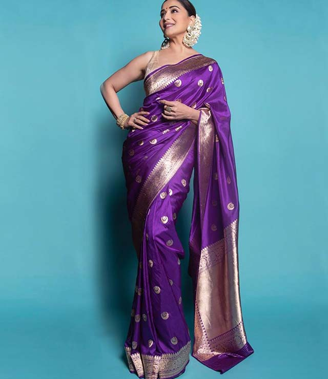Madhuri Dixit Nene, 5 ways to flaunt the color purple this Diwali